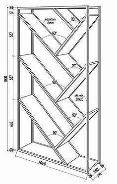 17 Simple and Amazing Bookshelf Plans Welded Furniture, Steel Furniture, Industrial Furniture, Furniture Plans, Diy Furniture, Furniture Design, Creative Bookshelves, Wood Bookshelves, Bookshelf Design