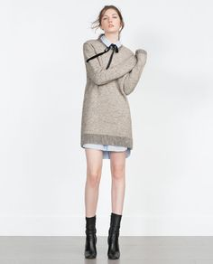 Image 1 of MAXI SWEATER DRESS from Zara
