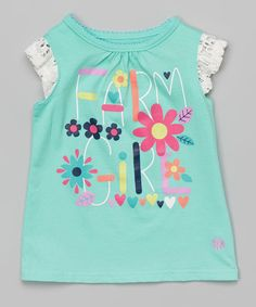 Look at this Mint Green Floral 'Farm Girl' Tank - Infant & Toddler on #zulily today!