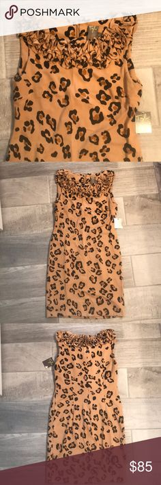 NWT - Taylor Leopard Dress NWT - This Taylor dress from Nordstrom is beautiful on! It is a size 2 & is a nice thick material with stretch to it. I am 5'7 & I have long legs & it hits me about 2 inches above my knee. Taylor Dresses Dresses Midi