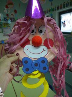 Lavoretti di Carnevale per la scuola dell'infanzia - Pagliaccio di Carnevale