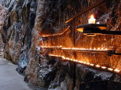 Rock Church, Helsinki, Finland. The Temppeliaukio Kirkko is built entirely underground and has a ceiling made of copper wire.