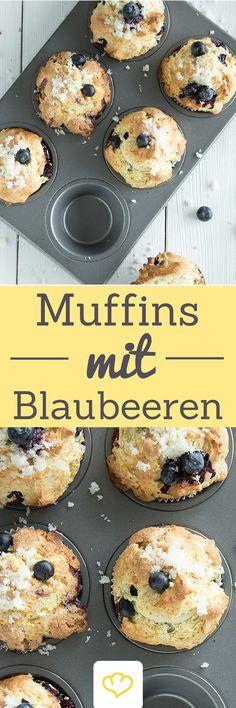 Wie im Coffeeshop: Super saftige Blueberry Muffins!