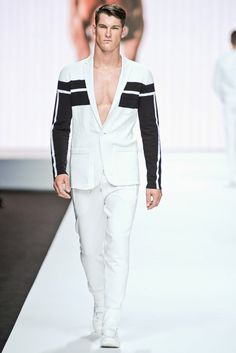 Dirk Bikkembergs SS12      VIA:     http://www.gq.com/fashion-shows/complete/S2012MEN-DIRKBMEN?page=2