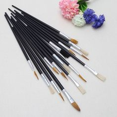 15Pcs Artist Paint Brush Set Oil Watercolor Painting Acrylic Drawing Brushes MAY12_35