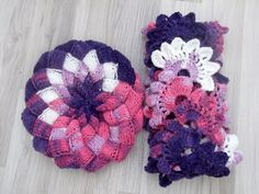 Hat and Crocheted Lace Scarf by myknittingworld on Etsy, $50.00