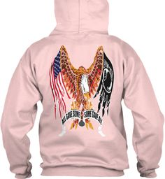 All Gave Some Some Gave All Light Pink Sweatshirt Back