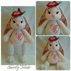 This is a DOWNLOADABLE PATTERN only. This is NOT for the actual amigurumi doll.  Meet BABY BUNNY BLOSSOM. She is simply precious and simple to