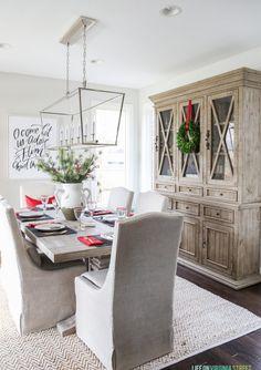 Diningroom Hutches Furnitureideas Transitionaldecor Plaid Christmas Tablescape