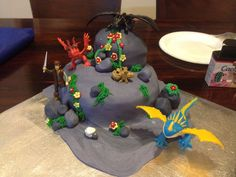 "My ""cheats"" How to train your Dragon cake :)"