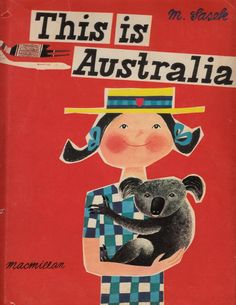 'This is Australia' by Miroslav Sasek, via Etsy. Beach Posters, Vintage Logo Design, Award Winning Books, Print Packaging, Vintage Travel Posters, Australia Travel, Light Art, Art Images, Graphic Illustration