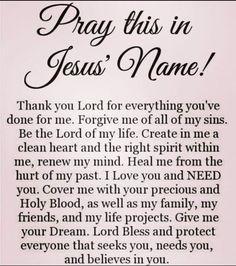 Pray in Jesus Christ name, Amen ✝️‼️ Prayer Scriptures, Bible Prayers, Faith Prayer, God Prayer, Power Of Prayer, Faith In God, Prayer For Salvation, Prayer Quotes For Strength, Fervent Prayer