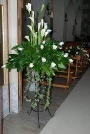 New Wedding Church Flowers Diy Ideas White Flower Arrangements, Ikebana Flower Arrangement, Funeral Flower Arrangements, Vase Arrangements, Altar Flowers, Church Flowers, Funeral Flowers, Table Flowers, Diy Flowers