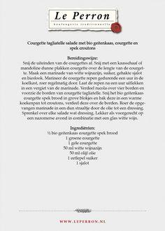 Receptkaarten - Le Perron