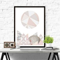 Beautiful Abstract Art Print in pink and grey tones Modern, edgy print to add a bit of class to any wall, perfect for any room in your home! Great for framing or giving as a gift... Printed on Hahnemühle Photo Luster 260gsm. All prints are unframed Dispatched within 3-5