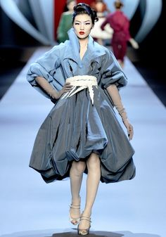 Christian Dior Couture Spring 2011, John Galliano. Galliano's salute to René Gruau, the illustrator whose work for Christian Dior in the forties and fifties created the house's most iconic imagery.