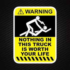 StreetFX Motorsport and Graphics – TOUCH MY TRUCK & DIE warning sticker