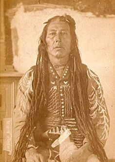 Native  American  man with  dreadlocks.1800's