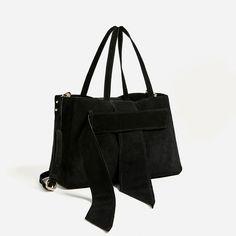 Image 3 of SPLIT SUEDE TOTE BAG from Zara