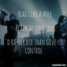Nine Inch Nails- Head Like a Hole  #NineInchNails #song #lyrics