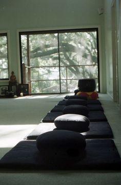 Zazen meditation room