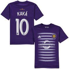 20b3fbf8fdb Youth Orlando City SC Ricardo Kaka adidas Purple Name  amp  Number T-Shirt -