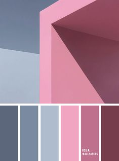19 The perfect pink color combinations { Pink hues + Blue Grey }, pink and blue grey color palette,pink and grey colour palette Bedroom Colour Palette, Blue Colour Palette, Color Blue, Color Schemes Colour Palettes, Color Combinations, Pink Color Combination, Design Poster, Color Balance, Perfect Pink