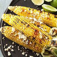 Cuban Grilled Corn - grill corn over medium heat for 12 min. Brush with butter and top with cotija cheese, paprika, salt, pepper. Serve with lime wedges. Corn Recipes, Side Dish Recipes, Side Dishes, Fast Recipes, Beef Recipes, Vegetarian Recipes, Picnic Menu, Cuban Cuisine, Veggie Tales