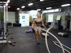 Battling Ropes Workout - 3 Different Rounds Crossfit, Battle Rope Workout, Rope Exercises, Battle Ropes, Heath And Fitness, Health Motivation, Build Muscle, Excercise, Workout Videos