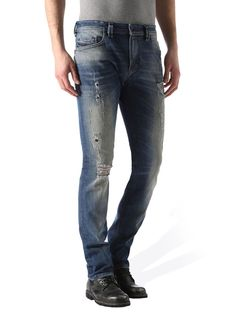 Shop at the Official Diesel Store USA: a vast assortment of jeans, clothing, shoes & accessories. Jogg Jeans, Diesel Store, Diesel Jeans, Blue Jeans, Skinny, Denim, Pants, Leather, Clothes