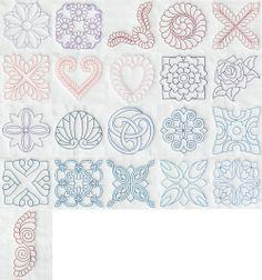 Embroidery Designs Pfaff #394 Vintage Quilt Blocks