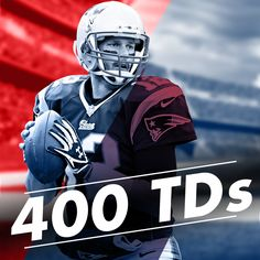 In a Week 3 win against the Jacksonville Jaguars, New England Patriots QB Tom Brady completed his 400th (and 401st) TD pass, moving him into 4th on the all-time list. Just 19 passes shy of Dan Marino, we wouldn't be surprised if he's moving into 3rd before the end of the season.