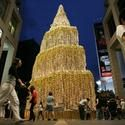 Christmas spirit in downtown Kuala Lumpur, Malaysia #budgettravel #travel #holiday #holidays #winter #Christmas #Tree #trees #world www.budgettravel.com