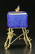 "Sea Turtle Box by Georgia Pozycinski and Joseph Pozycinski (Art Glass & Bronze Sculpture) (11.5"" x 7.25"")"