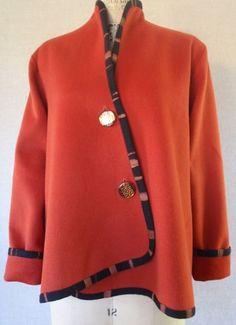Katherine tilton jacket with bias edge