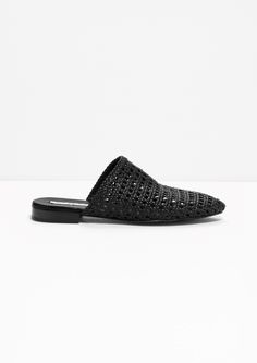 & Other Stories | Braided Leather Slip-Ins