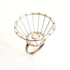 I Love Jewelry, Heart Jewelry, Jewelry Art, Jewelry Rings, Silver Jewelry, Jewelry Design, Jewelry Making, Designer Jewellery, Unusual Rings