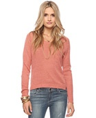 Love 21  - A linen-blend sweater featuring a round neck and long raglan sleeves. Ribbed trim. Side vents. Slight high-low hemline. Knit. Semi-sheer. Unlined. Medium weight.    DETAILS:  - 24.5-27' approx length from high point shoulder to hem, 38' chest, 36' waist, 31' sleeve length from high point shoulder  - Measured from Small  - 76% linen, 24% rayon  - Hand wash, dry flat  - Imported