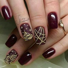 pretty Christmas nails for this holiday season- pretty Christmas nails for this holiday season winter nails with snowflake; red and white Christmas nails; cute and unique Christmas nails; Cute Nail Art Designs, Christmas Nail Art Designs, Winter Nail Designs, Winter Nail Art, Winter Nails, Fall Nails, Spring Nails, Christmas Design, Xmas Nails