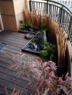 bambus deko bambusstangen balkondekoration feng shui