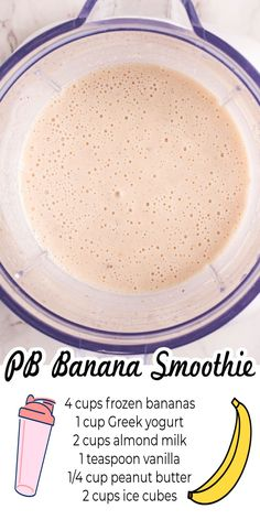 This Healthy Peanut Butter Banana Smoothie recipe is our classic go-to smoothie that we love whipping up for breakfast or after-school snacks. For more easy snack recipes follow Easy Budget Recipes! Budget Desserts, Budget Recipes, Top Recipes, Budget Meals, Brunch Recipes, Drink Recipes, Smoothie Recipes, Real Food Recipes, Breakfast Recipes