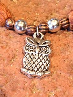 Items similar to Owl Gratitude Olive Bracelet on Etsy Handmade Bracelets, Handmade Gifts, Fashion Bracelets, Gratitude, Owl, Pairs, Gemstones, Trending Outfits, Unique Jewelry