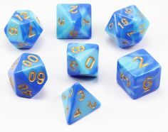 Sail into adventure with Blended Dice (Sky). Blended dice are a beautiful mixture of rare colors. Perfect...