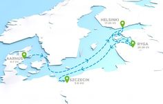 Trasa wyścigu Tall Ship Races 2013