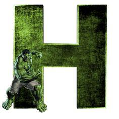 Alphabets by Mônica Michielin Hulk Avengers, Ms Marvel, Marvel Art, Marvel Avengers, Captain Marvel, Marvel Comics, Hulk Png, Arte Do Hulk, Hulk Tattoo