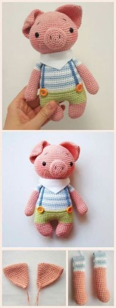 How to Make Amigurumi Piggy #amigurumi #amigurumipattern #howto #diy #crochettoys