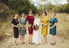 Bridesmaids | Wedding and Party Ideas | 100 Layer Cake mix and match bridesmaid