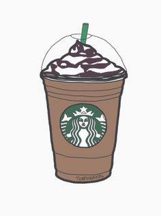 Arte Starbucks, Starbucks Cup Drawing, Starbucks Birthday, Starbucks Logo, Starbucks Frappuccino, Starbucks Drinks, Starbucks Coffee, Coffee Wallpaper, Starbucks Wallpaper