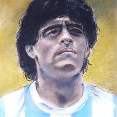 Nummer 10 Maradona - pastel (2020) My Arts, Portrait, Tattoos, Tatuajes, Headshot Photography, Tattoo, Portrait Paintings, Drawings, Portraits
