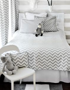 Chevron is the perfect fit for a toddler's room! #chevron